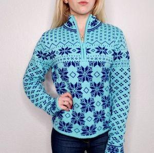 Moda International Nordic Fair Isle Winter Sweater